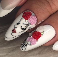 Exquisite Nail Art Ideas To Mesmerize Anyone 3d Nail Art, 3d Acrylic Nails, Stiletto Nail Art, Nail Art Hacks, 3d Nails, Claw Nails, Pastel Nails, Art 3d, Animal Nail Designs