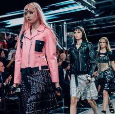 louis-vuitton-spring-summer-2016 baby pink jacket leather look underground fashion spring summer 2016
