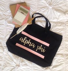 Alpha Phi bag by #224apparel