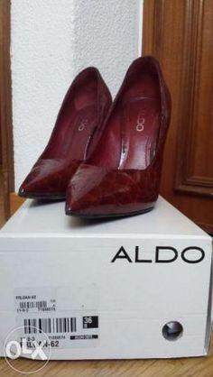 40 €: Sapatos vermelhos Tamanho 36 Marca: ALDO  Entrega em Lisboa e arredores.