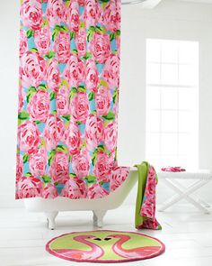 Lovely Lilly Pulitzer® Sister Florals Shower Curtain