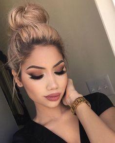 Wonderful make-up seems to be this weekend – # this … – Winter MakeUp Nude Makeup, Prom Makeup, Makeup Inspo, Makeup Geek, Wedding Makeup, Makeup Inspiration, Makeup Ideas, Makeup Tutorials, Brown Lipstick Makeup