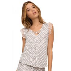 By The Sea Lace Sleeve Cami