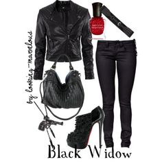 Black Widow Inspired Outfit