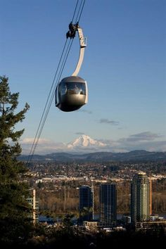 OHSU tram....fun fact, you have to pay to take it up, but not to take it down.  You can hike up to OHSU and get a nice ride back into town!