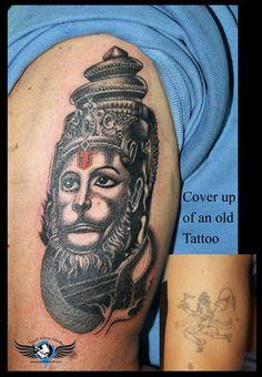 ##Lordhanuman##cover-uptattoo##Lordhanumantattoo##religioustattoo##hindugodtattoo##coveruptattoo##angeltattoostudio##Indore## Lord hanuman cover up tattoo