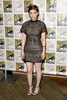 Pin for Later: This Year's Comic-Con Red Carpet Was Sexier Than Ever Before Kate Mara Kate chose a beaded Valentino short-sleeve minidress, playing up the shimmer with gold bracelets and rings.