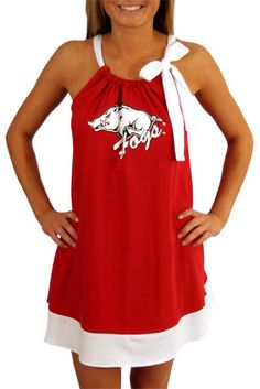 Super cute Razorback dress!- again, i need a sewing machine! i feel like this would be an easy project!