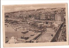 ALGER-Africa-Algiers-Vue-Generale-General-View-Vintage-Sepia-Paper-Postcard