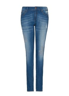 MANGO - Distressed super slim jeans