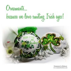 St. Patrick's Day Quilted Keepsake Ornament When Irish Eyes Are Smiling by OrnamentsByRebeccaT on Etsy https://www.etsy.com/listing/498354128/st-patricks-day-quilted-keepsake