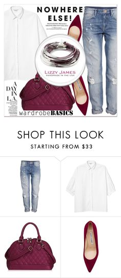 """""""# I/13 Lizzy James"""" by lucky-1990 ❤ liked on Polyvore featuring H&M, Monki, Manolo Blahnik, Lizzy James and lizzyjames"""
