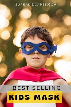 Our bestselling kids superhero masks make the perfect halloween costume or party favor for any birthday party or celebration. Our handmade superhero masks are comfortable and come with an adjustable head strap to fit any age and size. You can choose from over 14 vivid colors and patterns Our masks are perfect for goodie bags, pretend play, Halloween costumes and so much more! Find more costume ideas and inspiration at superkidcapes.com. Superhero Costumes For Boys, Superhero Dress Up, Superhero Capes, Boy Costumes, Super Hero Costumes, Costume Ideas, Best Halloween Costumes Ever, Halloween Masks, Capes For Kids