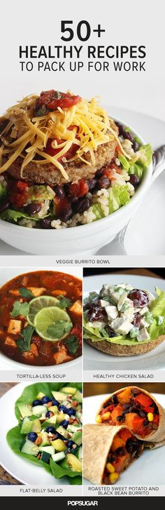 Great If you're trying to lose weight, we've got more than 50 healthy lunch recipes to inspire your midday meals. The post If you're trying to lose weight, we've got more than 50 healthy lunch re… appeared first on Ninas . Healthy Desayunos, Healthy Snacks, Healthy Eating, Healthy Recipes, Healthy Weight, Detox Recipes, Healthy Cooking, Lunch Snacks, Lunch Recipes