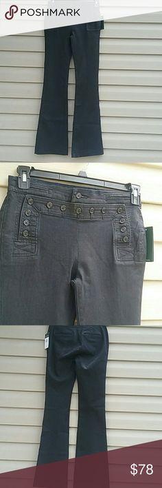 BNWT Lauren by Ralph Lauren jeans Sailor style button up front, boot cut color is blackened indigo waist is 30 in. Leg length inseam is 35 in Ralph Lauren Jeans