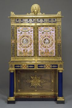 Royal Jewel Cabinet (France), 1824–26 Casework of molded hard-paste porcelain with enamel–painted and fired.... Bequest of the Reverend Alfred Duane Pell. 1991-31-2