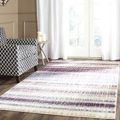 Safavieh Evoke Modern Cream/ Purple Rug (6' Square)