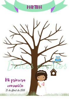 El árbol de huellas, es un complemento perfecto para dejar constancia de todas las personas que te acompañan en un día tan señalado.