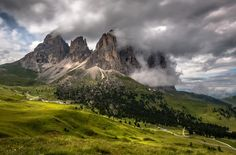 Val Gardena, Sassolungo, Dolomites - Long exposure 5 seconds