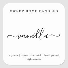 Shop Personalized Candle Label Square Sticker created by InstantInvitation. Candle Logo, Candle Branding, Candle Packaging, Diy Candle Labels, Jar Labels, Homemade Candles, Diy Candles, Scented Candles, Custom Candles