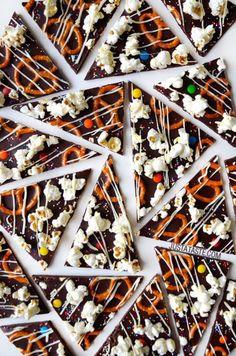 Sweet and Salty Dark Chocolate Bark | justataste.com