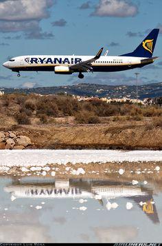 Ryanair EI-EBG Boeing 737-8AS aircraft. Purchase cheap flights between European cities... fly Ryanair!