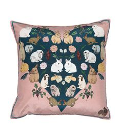 Hop+Into+Spring+With+22+Bunny-Inspired+Home+Decor+Picks+-+Silken+Favours+Bashful+Bunnies+Cushion +-+from+InStyle.com