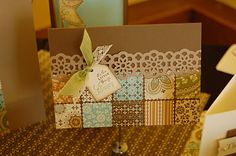 Great card to use up scraps - would also look great with Christmas Papers : )