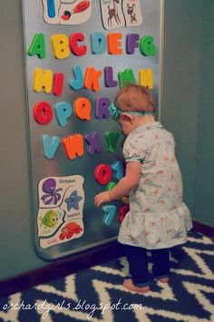 Magnet board for kids to learn spelling , alphabet, numbers or play matching games with matching cards