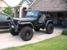 nice black on black yj jeep