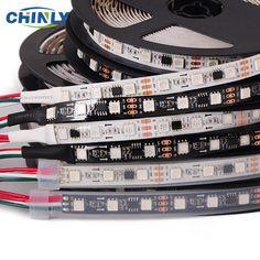 5050 SMD RVB Bande Adressable led/m Led Pixels Externe 1 ic contrôle 3 Led 5 m/roll Chips Brands, Led Strip, Strip Lighting, Lights, Black And White, Ebay, Aud, Garden, Link