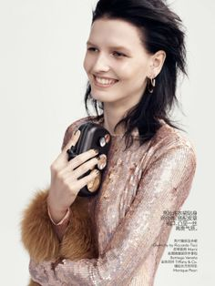 Katlin Aas by Benny Horne for Vogue China Collection Pre Fall 2014 2