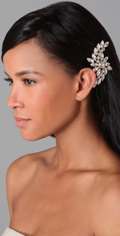 Pretty!  Give your special occasion dress a touch of sparkle with this crystal swirl bobby pin by ban.do.