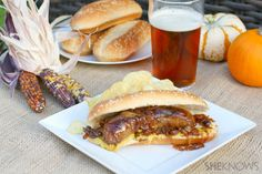 Beer-braised brats with onions #recipe