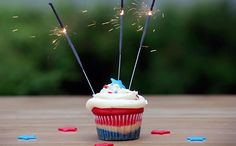 Wow guests at your next 4th of July or Memorial Day party. These Patriotic Cupcakes start with a simple box cake mix, which makes it easy for everyone.