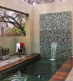 Wow, sería un excelente proyecto... Small Terrace, Cool Swimming Pools, Small Pools, Exterior, Curtains, Outdoor Decor, Home Decor, Outdoors, Ideas