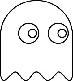 Coloring pages Pacman Ghost - Obst Fruit Coloring Pages, Coloring Pages To Print, Coloring Pages For Kids, Free Coloring, Pec Man, Festa Do Pac Man, Ghost Template, Ghost Drawing, Fruits Drawing