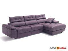 Sofá con chaise-longue Lotus fabricado por Divani Star en Sofassinfin.es