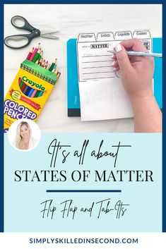 Teach your kiddos all about different states of matter with this Tab-Its and Flip Flap books! Perfect for any science activity, it's guaranteed to be educational, rigorous, and fun to complete! Science Curriculum, Science Activities, Science Projects, States Of Matter, Science Videos, Primary Classroom, Interactive Notebooks, How To Apply, Student