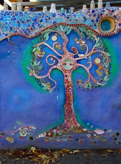 mosaic tree....