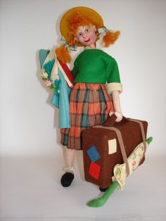 Klumpe Traveling Girl with Suitcase by FiZZleGiGS on Etsy