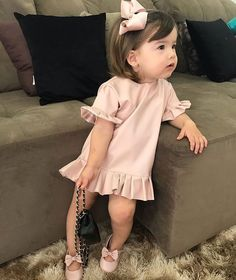 The Hidden Facts About Lovely Baby Girl Clothes Winter Ideas The One Thing to Do for Lovely Baby Girl Clothes Winter Ideas Now, if you. Toddler Girl Outfits, Little Girl Dresses, Toddler Fashion, Kids Fashion Summer, Winter Outfits For Girls, Cute Outfits For Kids, Outfits Niños, Little Girl Fashion, Boy Fashion