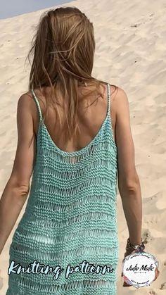 Crochet Beach Dress, Crochet Summer Dresses, Summer Dress Patterns, Crochet Skirts, Crochet Clothes, Crochet Bikini, Knit Crochet, Crochet Summer Tops, Knitting Patterns