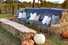 Hay couch.