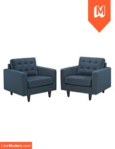 Empress Armchair Set of 2 in Azure (EEI-1283-AZU)  $800 + Free Shipping* + No sales tax http://www.likemodern.com/products/empress-armchair-set-of-2-in-azure-eei-1283-azu.html#.U55bdyhdBOM
