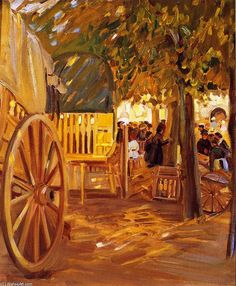 The Market Cart, Brittany, Oil On Canvas by Helen Galloway Mcnicoll (1879-1915, Canada)