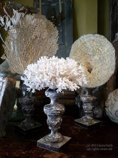 Use coral on top of a vase instead of flowers. :)