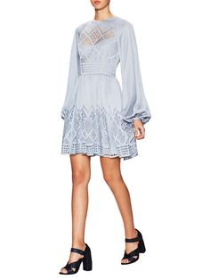 Azure Eyelet Dress by Temperley London