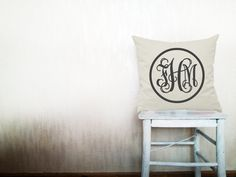 Custom monogrammed pillow decorative throw by HomeLivingIdeas, $35.80