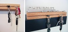credit: DIY Maven [http://www.curbly.com/users/diy-maven/posts/1900-how-to-make-a-designer-key-rack]